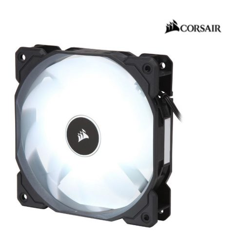 海盗船 Air Flow 120mm Fan Low Noise Edition / White LED 3 PIN - Hydraulic Bearing, 1.43mm H2O. Superior cooling performance and LED illumination