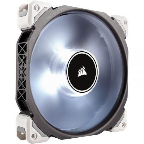 海盗船 ML140 Pro LED, White, 140mm Premium 磁悬浮技术 Levitation Fan