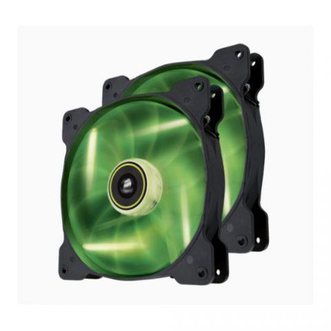 海盗船 SP 140mm Fan with Green LED High Pressure Twin Pack! (LS)