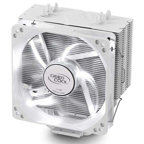 九州风神 Gammaxx 400 White 玄冰400 4热管cpu高效散热器 白色特别版