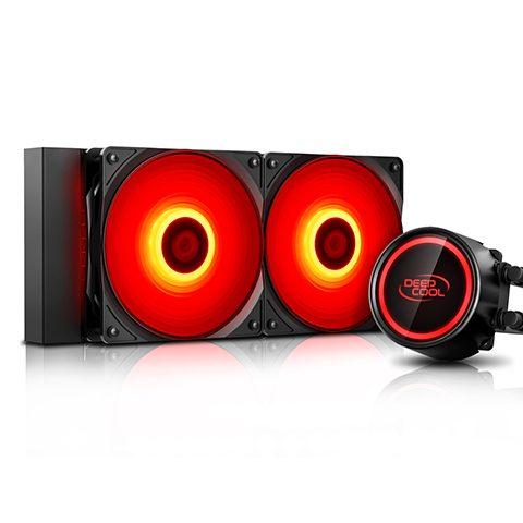 九州风神 GAMMAXX 玄冰 L240 RGB 240水冷 CPU水冷 一体水冷散热器 红色
