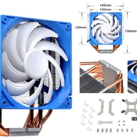 Silverstone AR03 12CM PWM 6 Heatpipe CPU Cooler, Compatible 2011, 2066, 1150, 1151, 1155, FM2, AM4 Height. 159mm. 37.2 to 81.4CFM