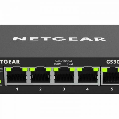 网件 5 Port SOHO Smart Managed Plus Gigabit Desktop Switch