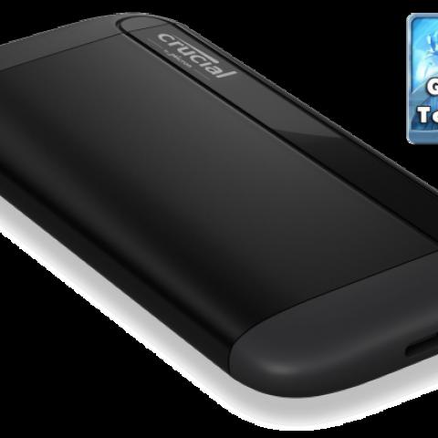 镁光 Crucial X8 500GB External Portable SSD 移动固态硬盘