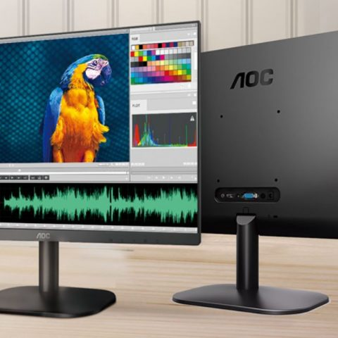 AOC 23.8' IPS, Low Blue, Flicker Free, Ultra Slim 显示器. VGA, HDMI 1.4. VESA 100 x 100mm. Office, Business, Home 显示器