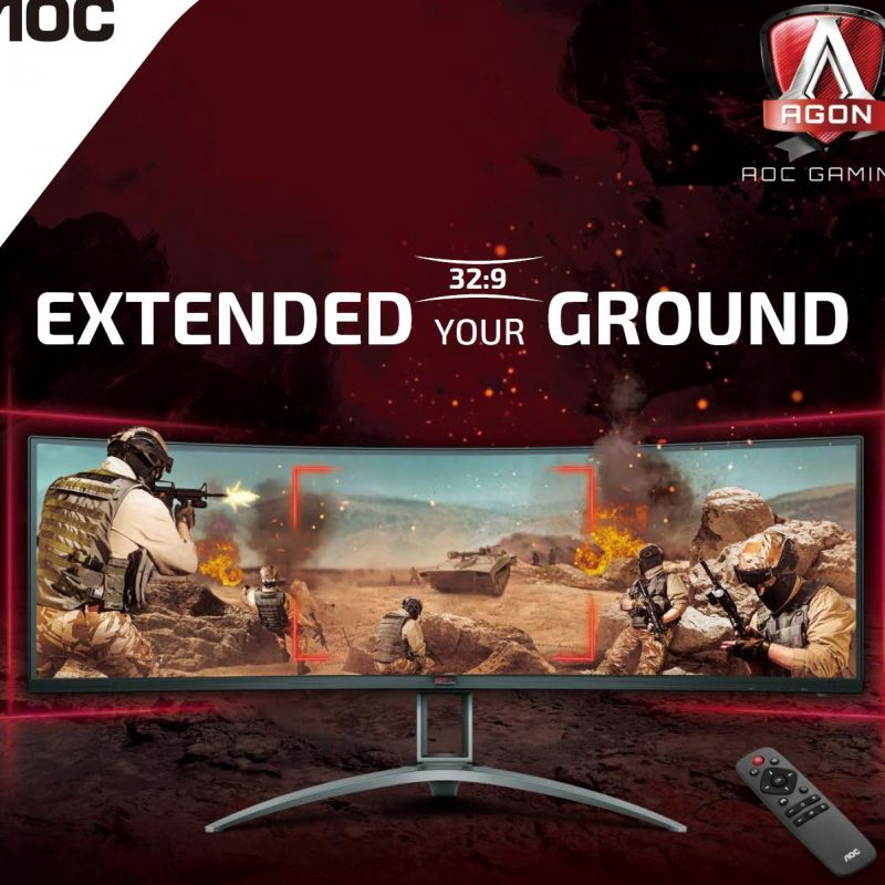 AOC 爱攻 AG493UCX 49' Curved 1800R, DQHD 5K HDR400 120Hz 曲屏显示器