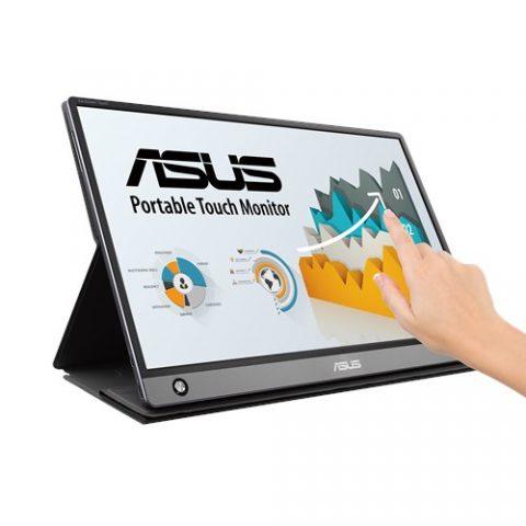 华硕 ZenScreen Touch MB16AMT15.6' IPS, Full HD, 10-point Touch, Built-in Battery 7800mAh, USB Type-C, Micro-HDMI, 0.9KG, 9mm