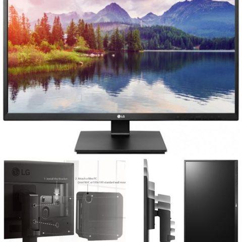 LG 27' IPS 5ms Full HD Business 显示器 w/HAS - VGA DVI HDMI DP USB Speakers VESA Height Adjust Stand