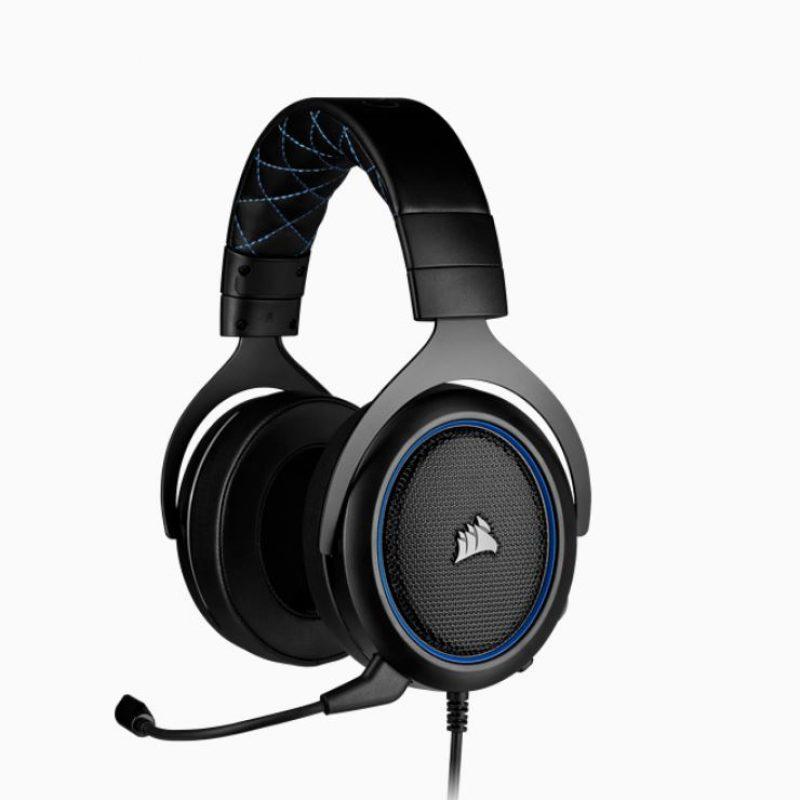 海盗船 HS50 PRO Blue STEREO Gaming Headset 蓝色 Discord认证 清晰音质耳机