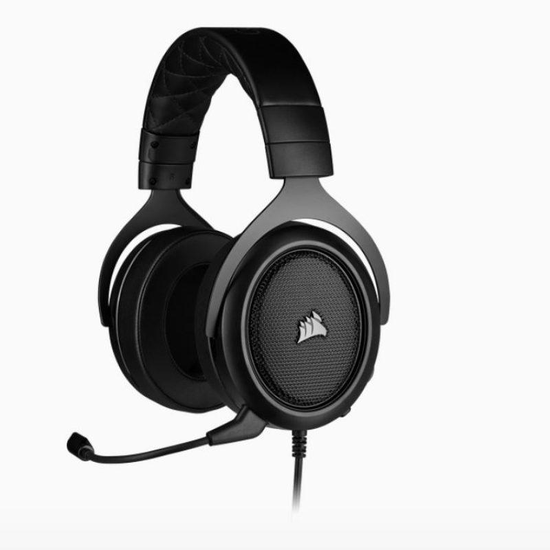 海盗船 HS50 PRO Carbon STEREO Gaming Headset 黑色 Discord认证 清晰音质耳机