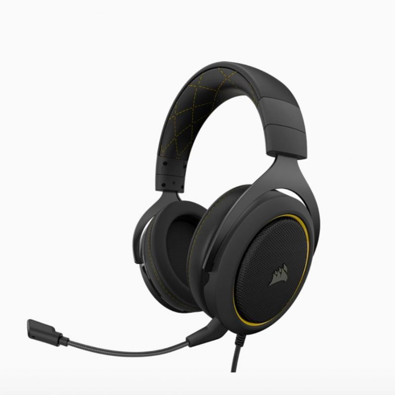 海盗船 HS60 PRO Black Yellow 黑黄 虚拟7.1声道 Discord认证 多平台游戏耳机
