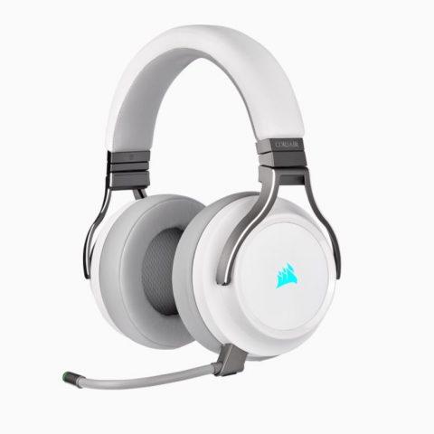 海盗船 海盗船 Virtuoso 鉴赏家无线耳机 白色 7.1声道耳机 RGB幻彩iCUE灯光同步