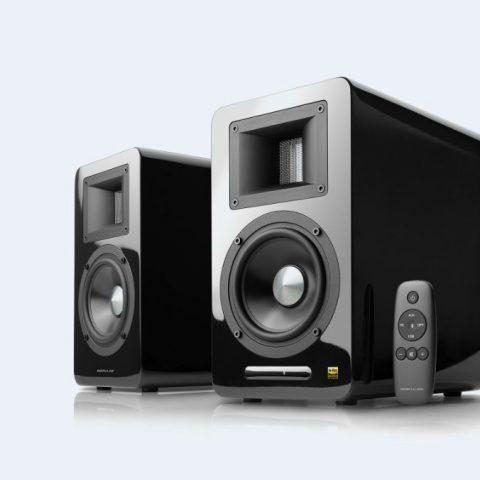 Edifier 漫步者 Airpulse A100 蓝牙音响系统 黑色 Hi-Res认证 小金标 Audio Active Speaker 音箱 扬声器