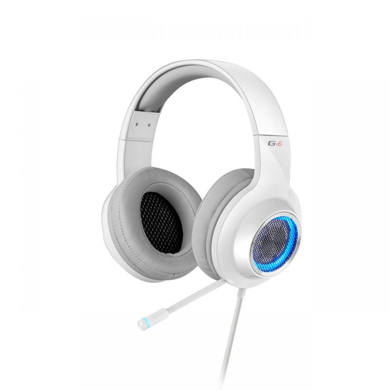 Edifier V4 (G4) 7.1 Virtual Surround Sound USB Gaming Headset 白色 虚拟7.1声道耳机