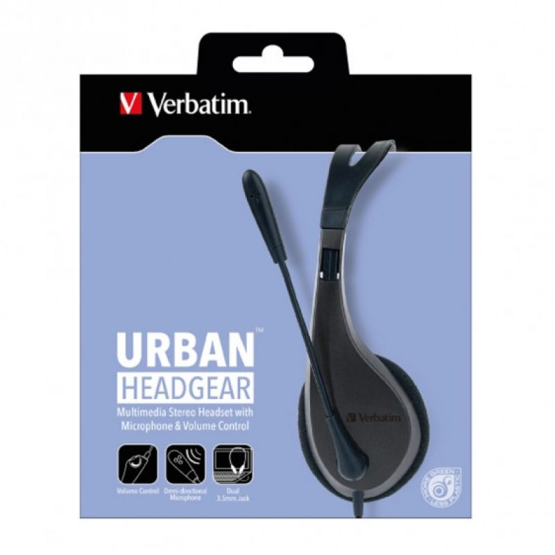Verbatim Multimedia Headset with Microphone 耳机