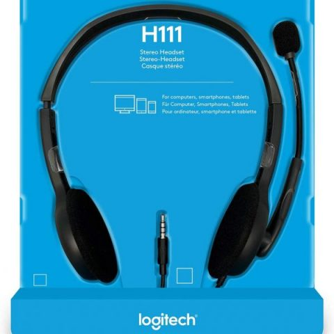 罗技 H111 3.5 mm Analog Stereo Headset 耳机