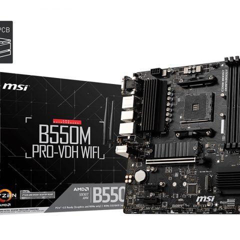 微星 MSI B550M PRO-VDH WIFI mATX 主板