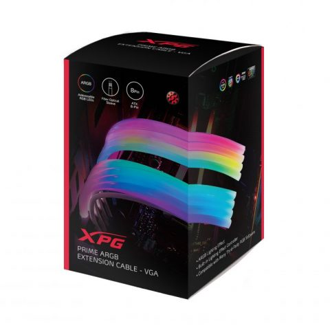 ADATA 威刚 XPG Prime 8-Pin VGA ARGB 显卡供电延长线 模组线