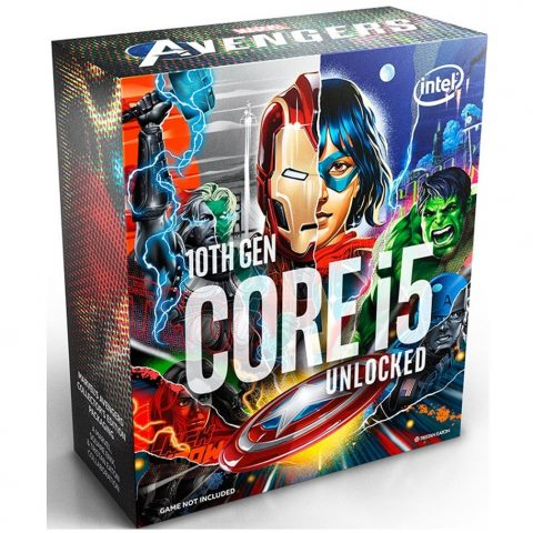 英特尔 Intel Core i5-10600K Avengers 复仇者联盟 4.1GHz (4.8GHz Turbo) 6核12线程