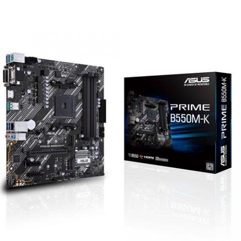 华硕 ASUS AMD B550 PRIME B550M-K mATX主板