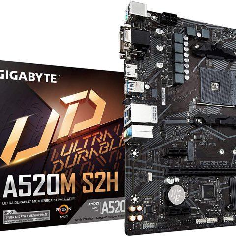 技嘉 Gigabyte A520M S2H mATX主板