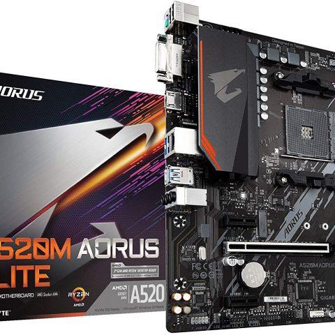 技嘉 Gigabyte A520M AORUS ELITE AMD mATX主板