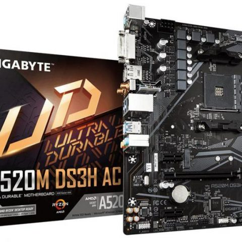 技嘉 Gigabyte A520M DS3H AC mATX主板