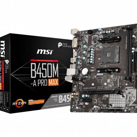 微星 MSI B450M-A PRO MAX AMD M-ATX主板
