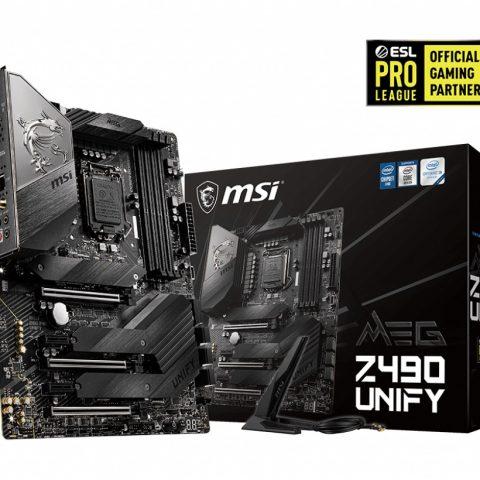 微星 MSI MEG Z490 UNIFY DDR4 ATX主板