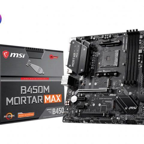 微星 MSI B450M MORTAR MAX mATX主板