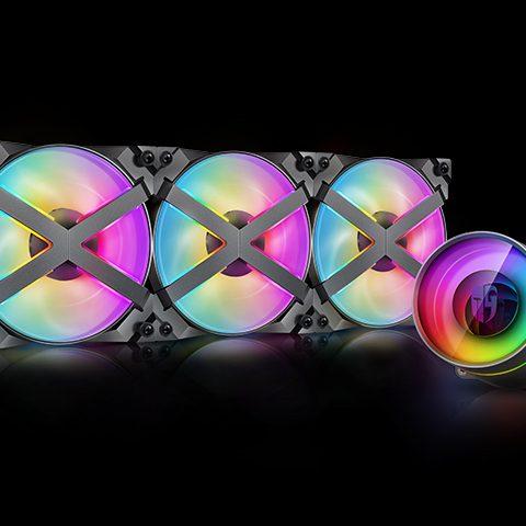 九州风神 堡垒360ex CASTLE 360EX RGB 一体水冷散热器