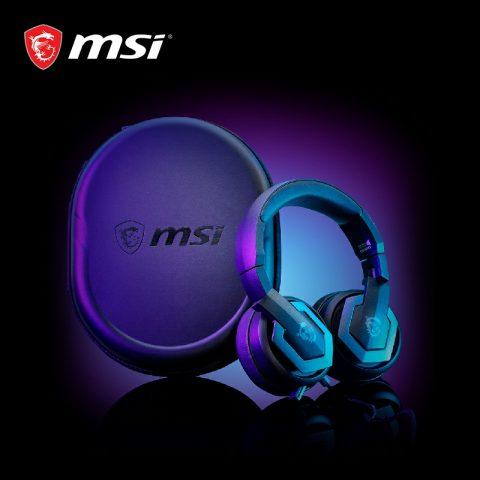 MSI微星GH61头戴式7.1声道游戏台式电脑耳机降噪听声辨位电竞耳麦