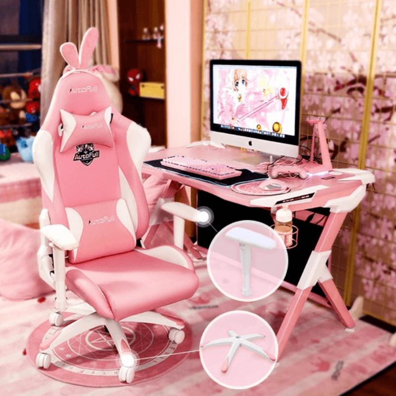傲风 樱の雪兔 AutoFull 电竞椅 粉色 电脑椅 人体工程学椅子
